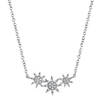 Triple Starburst Necklace