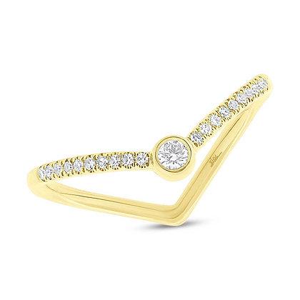 "Diamond ""V"" Ring"