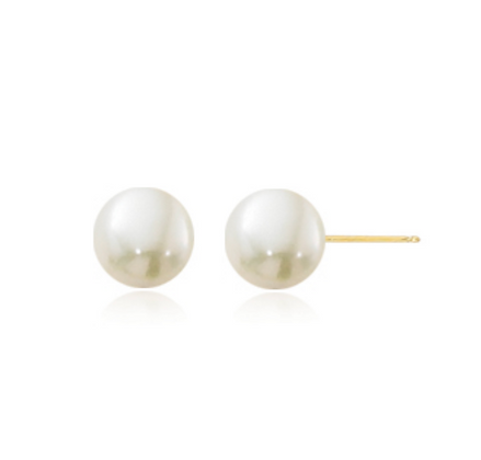 6mm Pearl Stud Earring