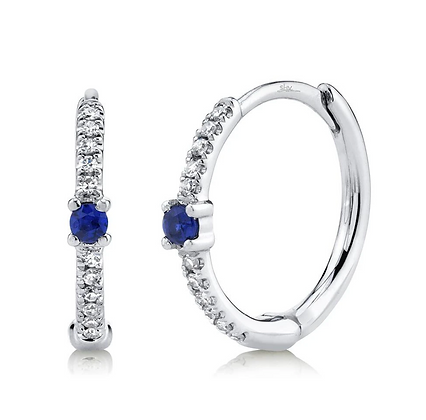 Sapphire Huggie Earring
