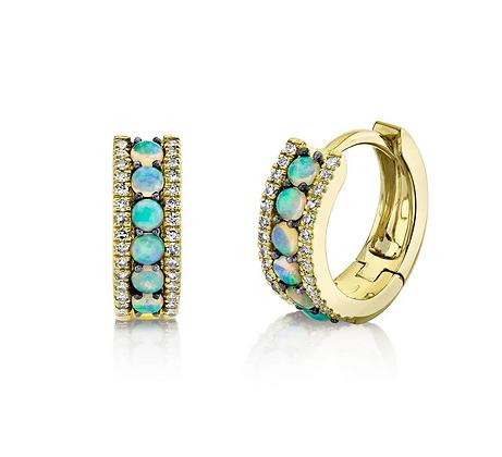 Opal Huggie Earring