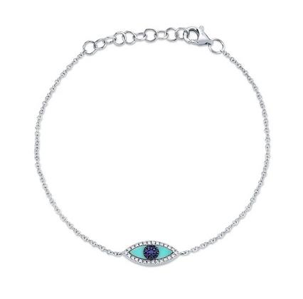 Evil Eye Bracelet - White