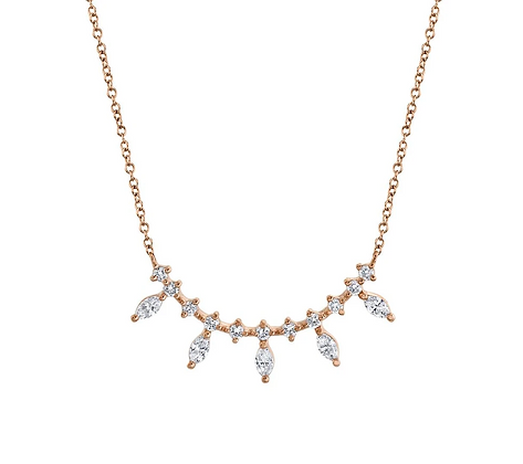 Marquise Bar Necklace