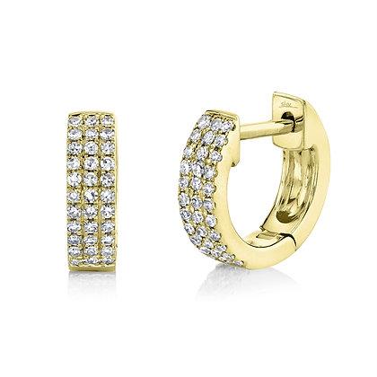 0.17CTTW Diamond Huggie Earring