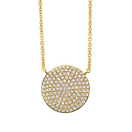 Diamond Pavé Circle Pendant (Large)
