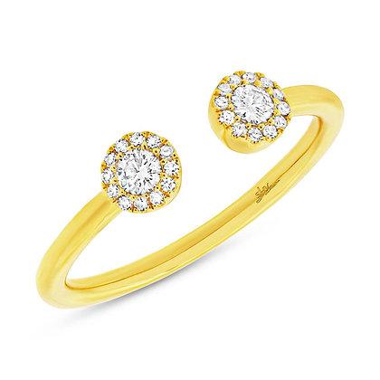 Open Diamond Circle Ring