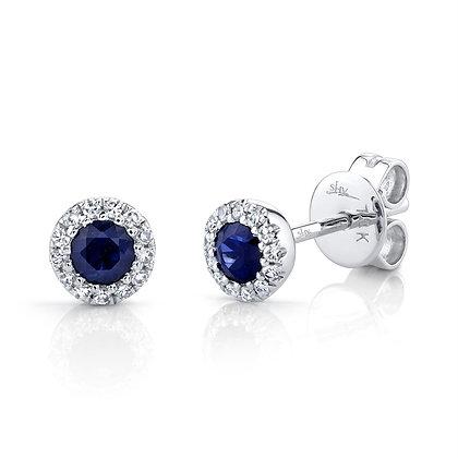 "Sapphire and Diamond ""Eden"" Stud Earring"