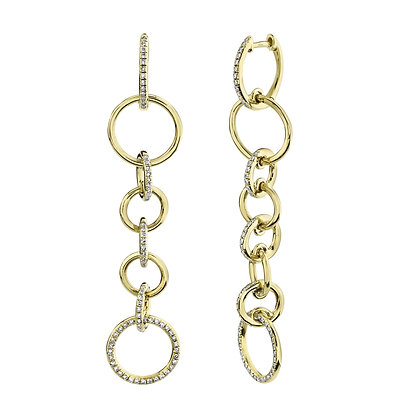 Diamond Link Earring