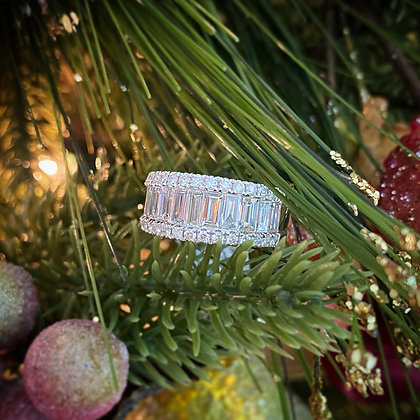 French Baguette Diamond Ring