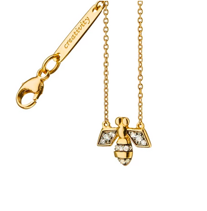 "Diamond Critter Bee ""Creativity"" Charm Necklace"