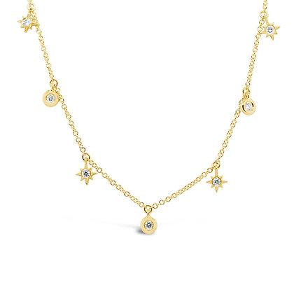 Bezel Diamond Star Necklace