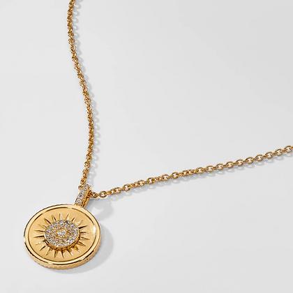 Sun Medallion Pendant - Gold