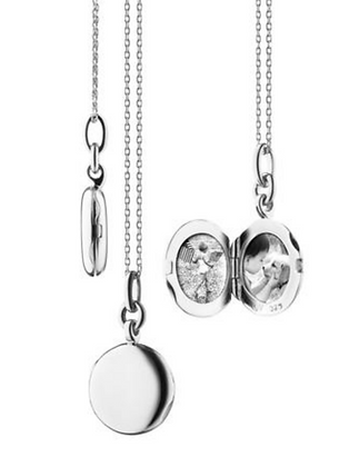 "Slim Round ""Nan"" Locket - Sterling Silver"
