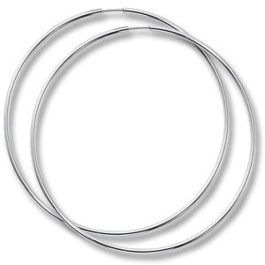"2.5"" Sterling Silver Endless Hoop Earring"