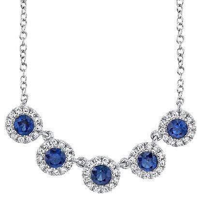 "Sapphire and Diamond ""Eden"" Necklace"