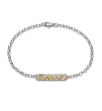 """Love"" Poesy Bracelet With Sapphires"