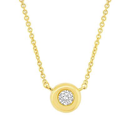 0.05ct Diamond Bezel Pendant