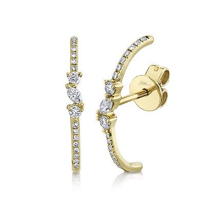 Marquise Lobe Cuff Earring