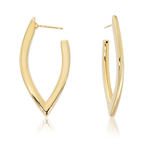 """V"" Shaped Hoop Earring"