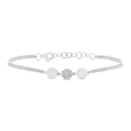 Fluid Diamond Pavé Circle Bracelet