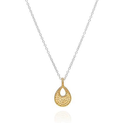 Small Open Drop Pendant Necklace - Reversible