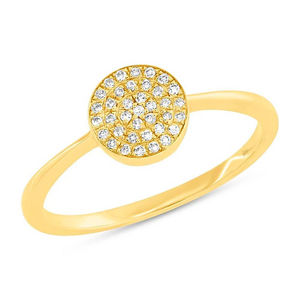 Diamond Pavé Circle Ring