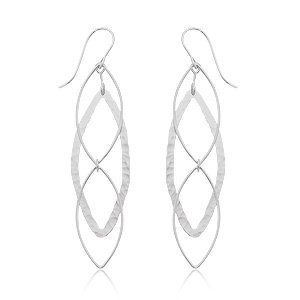 Hammered Marquise Earring