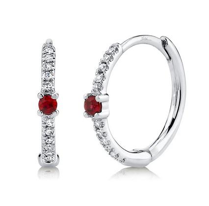Ruby Huggie Earring