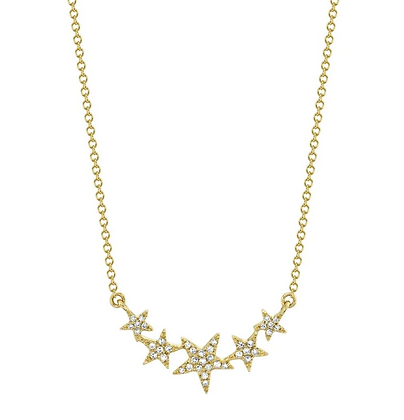 5 Star Necklace - Yellow