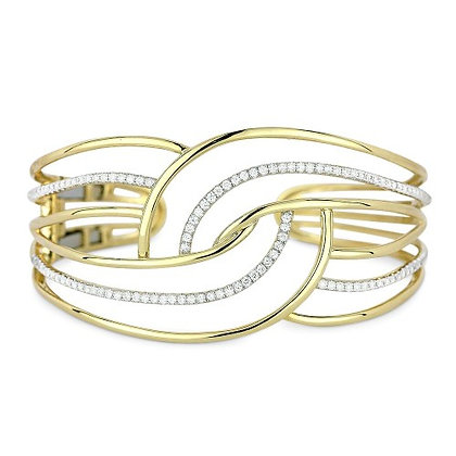 Contemporary Swirl Cuff Bracelet