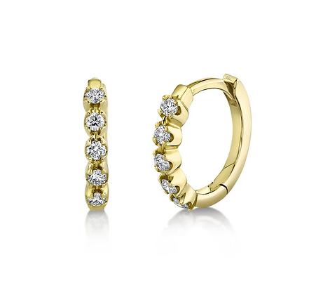 Diamond Huggie Earring - Yellow