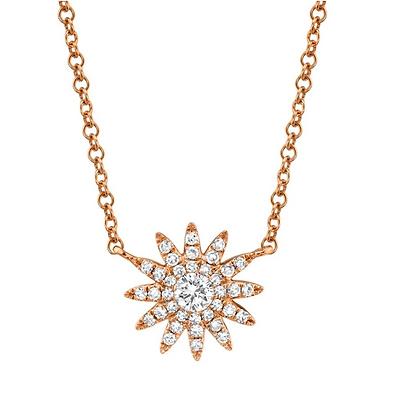 Petite Starburst Necklace - Rose