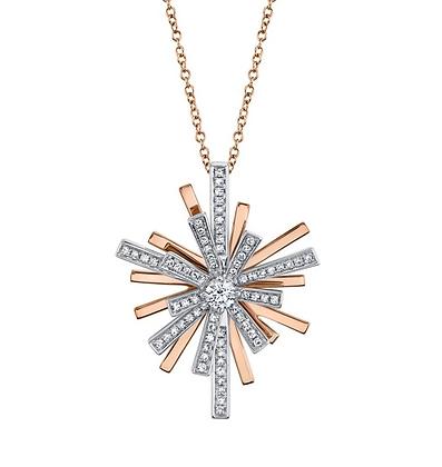 Two-Tone Starburst Necklace