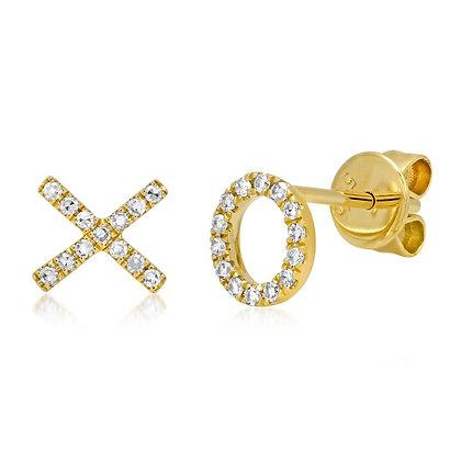 """""""XO"""" Stud Earring"""