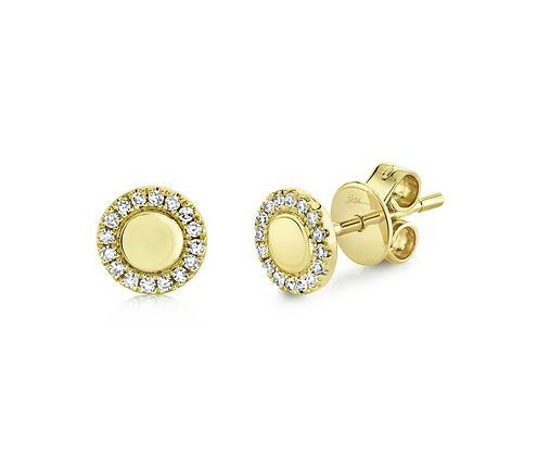 Small Polished Circle Earrings