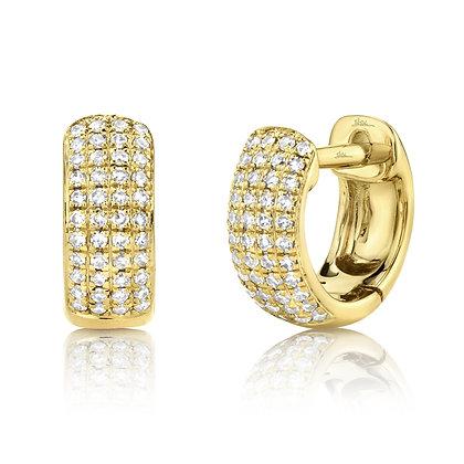 0.20CTTW Diamond Pavé Huggie Earring