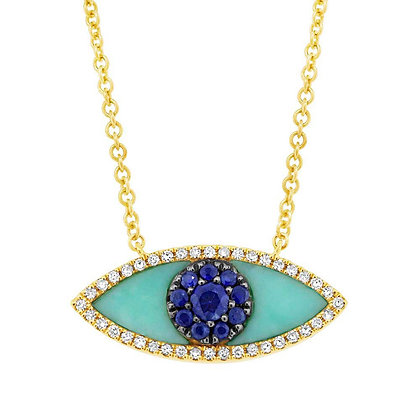 Evil Eye Necklace - Yellow