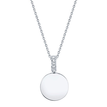 Engravable Disc Pendant