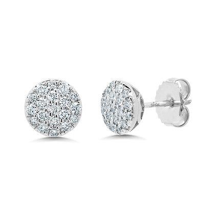 0.48ct Diamond Cluster Stud