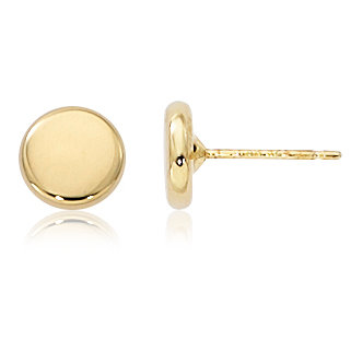 Flat Round Stud Earring