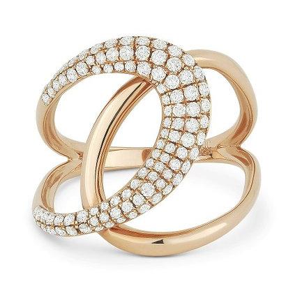 Milano Diamond & Rose Gold Ring