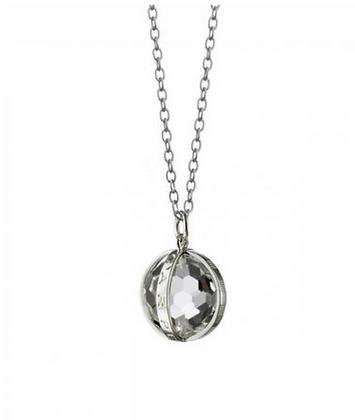 """Carpe Diem"" Necklace In Silver - Small"