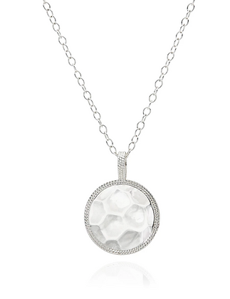Signature Hammered & Dotted Reversible Circle Pendant