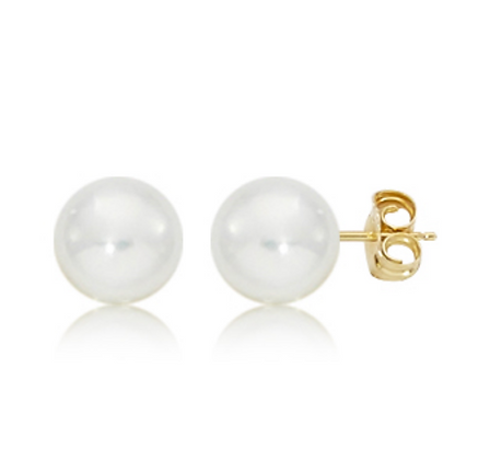 8mm Pearl Stud Earring