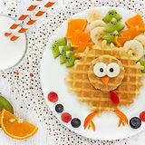 Creative idea for kids breakfast - wafer
