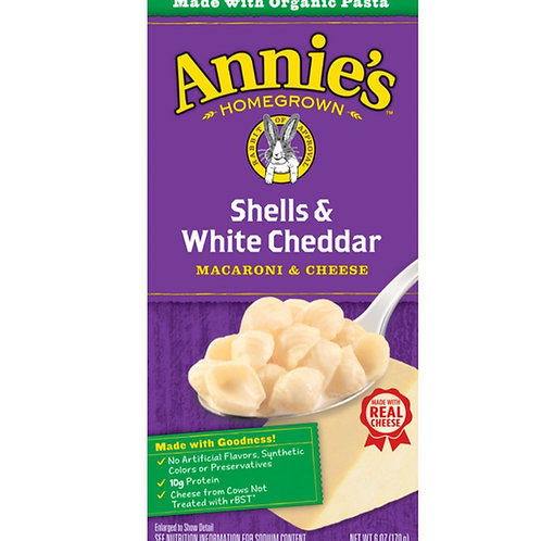 Annie's Organic Shells White Cheddar
