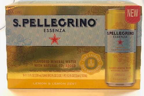 S.pellegrino Lemon & Lemon Zest