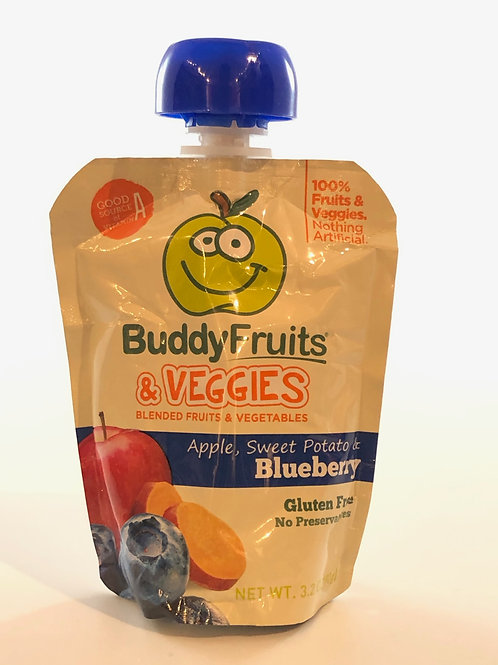BUDDY FRUITS ORIGINALS APPLE AND BLUEBERRY FRUIT BLEND, 3.2 OUNCE