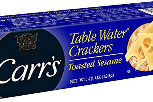 Carr's Crackers with sesame seeds