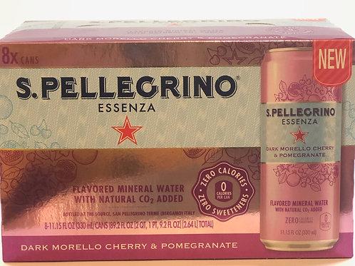 S.Pellegrino® Essenza™ Dark Morello Cherry & Pom Sparkling  Mineral Water